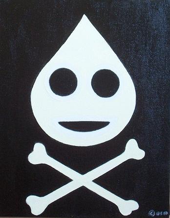 piracka flaga dedykowana kropli (zapewne kokosowego mleka